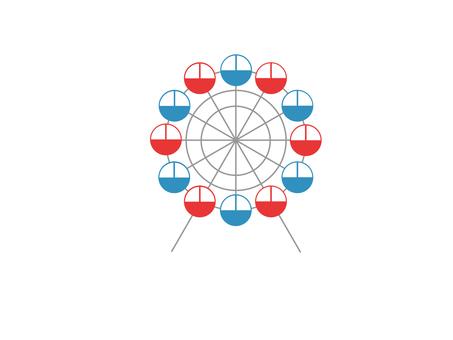 Ferris wheel (blue × red)