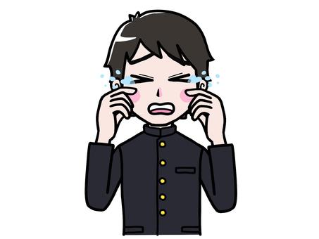 School run boy student crying