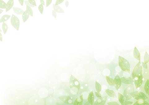 Green leaf frame 07
