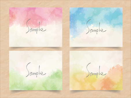 Watercolor frame set ver 06