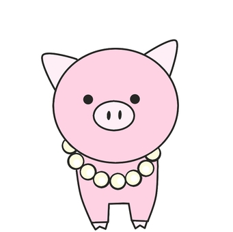Illustration of pearls in pigs