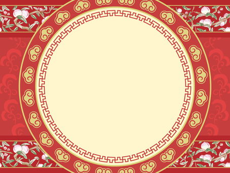 Chinese pattern-peach and cloud frame