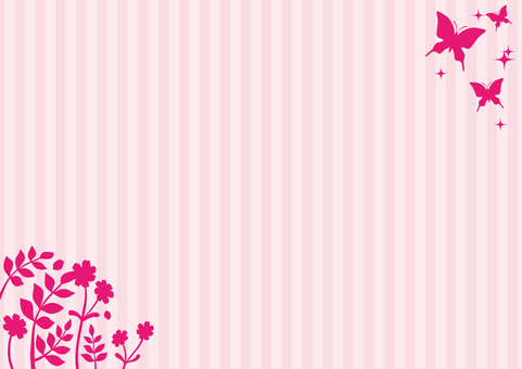 Flower and butterfly background material