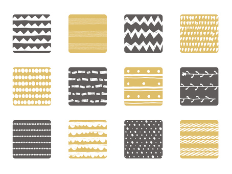 Square material set - Scandinavian handle