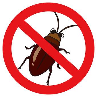 Cockroaches prohibition mark