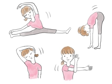 Women stretching