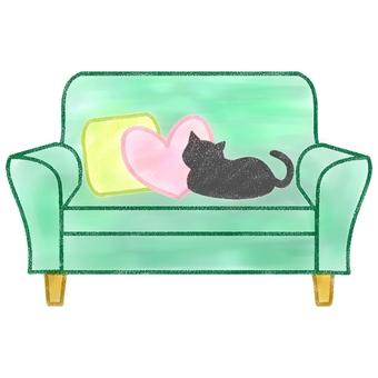 Sofa cat color