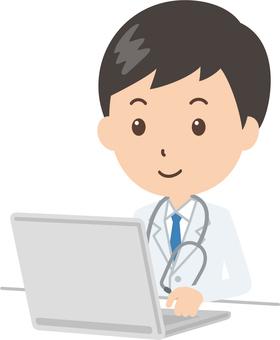 醫生|醫生|白大衣|個人電腦
