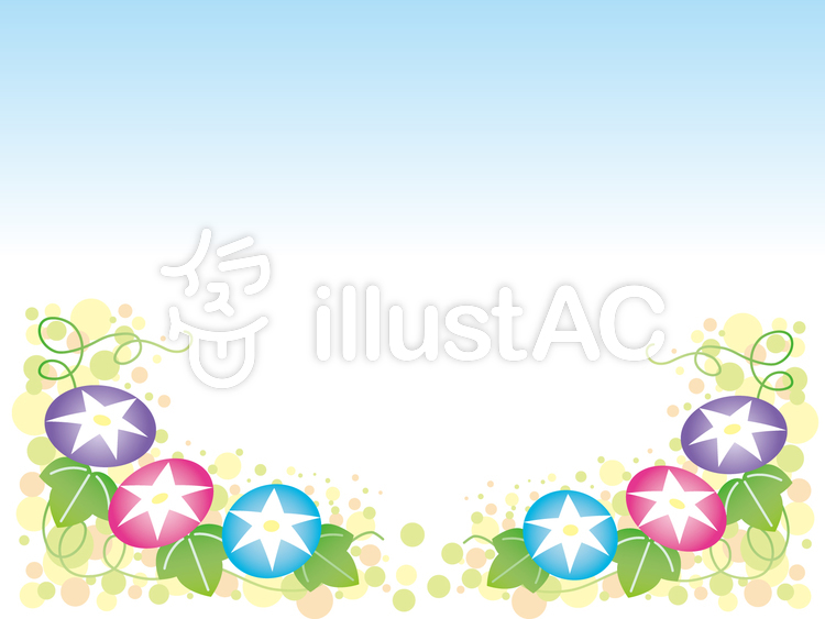 【フリーイラスト素材】 あさがおフレーム3