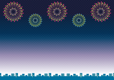 Fireworks horizontal background material 1