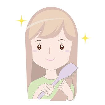 Women brushing