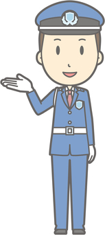 Security guard - information smile - whole body