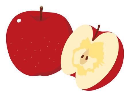 Honey apple (cross section)
