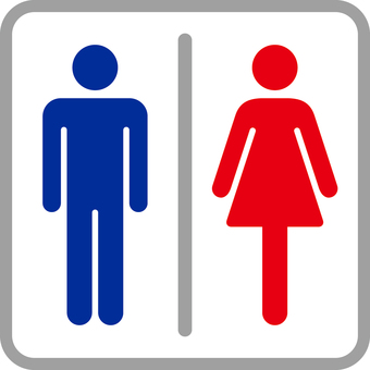 Pictogram _ toilet _ blue red