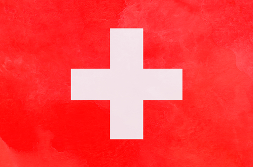 Flag Watercolor Switzerland