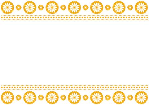 Frame - Flower Lace - Orange