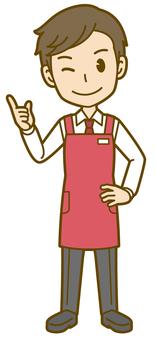 Male (clerk): B_ point 01 FS