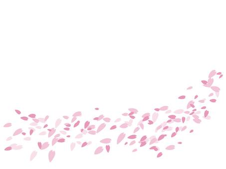 벚꽃 눈보라 : 꽃 소재