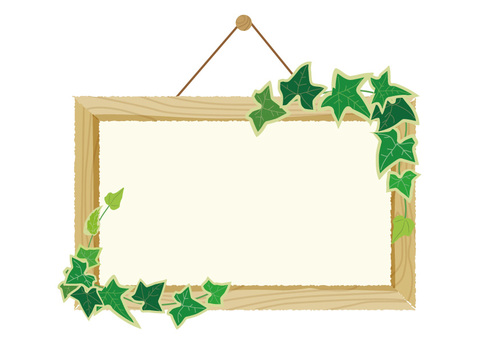 Mini signboard and ivy
