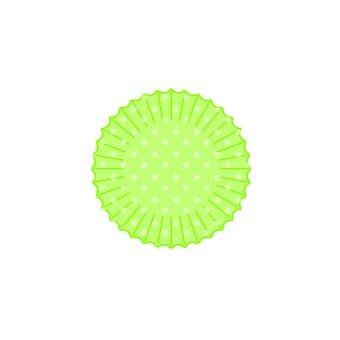Silicone cup (polka dot · green)