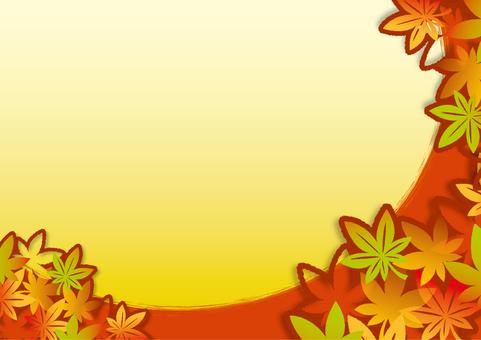 Autumn leaves frame _D02 side