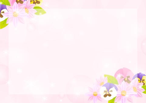 Autumn flower frame 3
