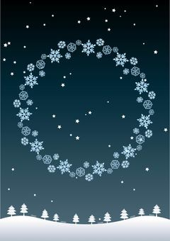Snowflake 06_04 (Snowscape frame)