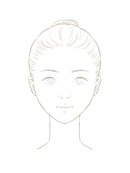 Female face model line