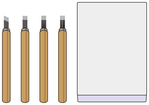 消しゴムハンコの作る道具