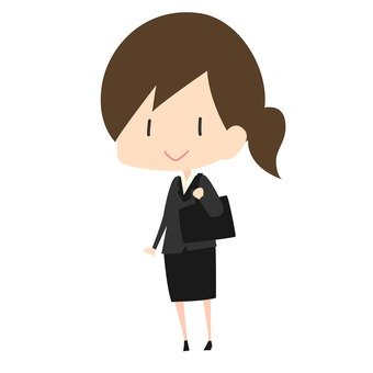 Moving - a woman from a new employee