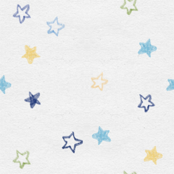 Hand-painted star seamless pattern (blue)