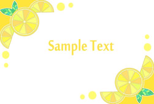 Lemon frame
