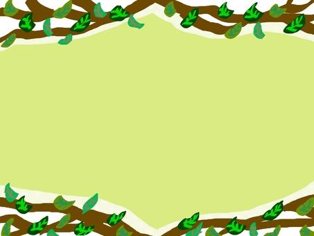Frame leaf tree