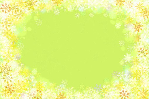 Snow background yellow green
