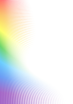 Rainbow color background dot curve (vertical)