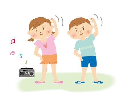 Radio gymnastics _ children