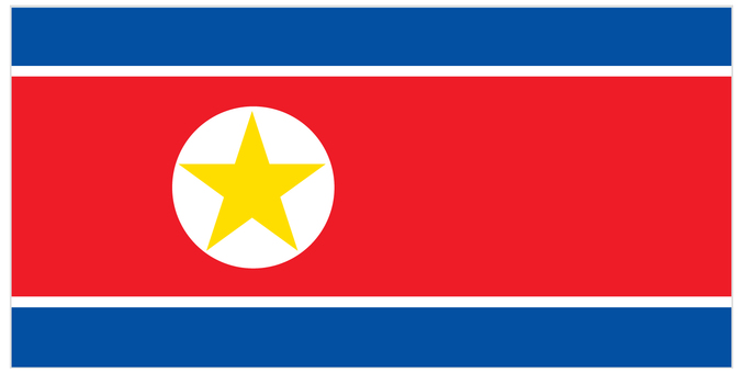 National flag_ North Korea