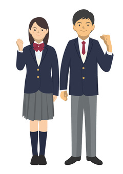 Student _ Uniforms of men and women -2-1 _ whole body
