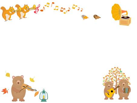 森の動物の音楽会フレーム
