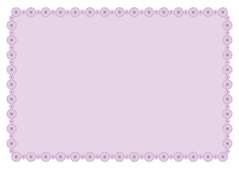 Frame - Flower ring - Purple