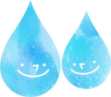 Raindrop couple