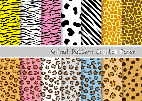 Animal seamless pattern set