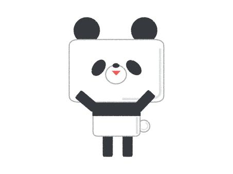 팬더 귀여운 만세 포즈