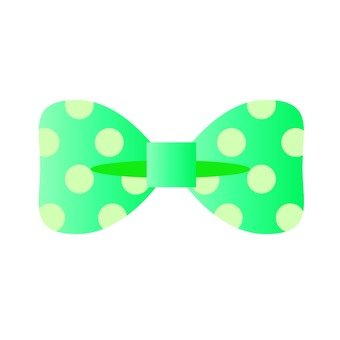Green polka dot ribbon