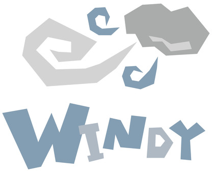 Strong wind WINDY POP logo ☆ icon