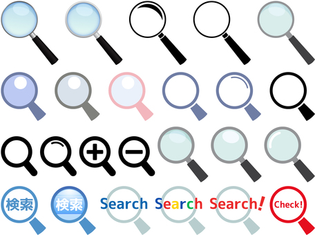 Magnifying glass set _