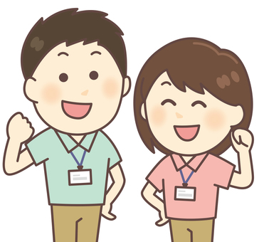 Polo衫工作人員男女(淺藍色·粉紅色)
