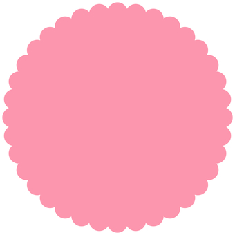 Simple jagged circle label pink