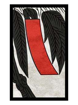 Hanafuda willow strip