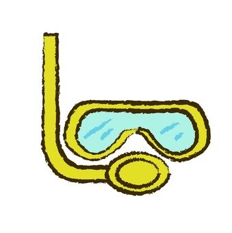 Snorkel and goggles